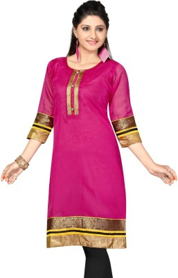 ALC Creations Casual, Formal, Festive Solid, Embroidered Women's Kurti