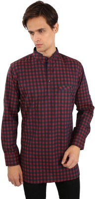 Edenelliot Checkered Men's Straight Kurta