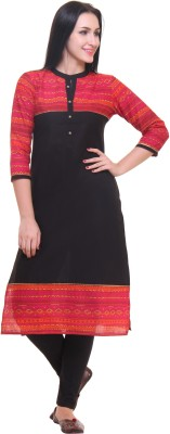 Gulmohar Jaipur Printed Women's Straight Kurta(Red) at flipkart