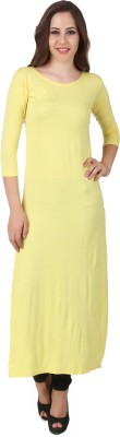 BrandMeUp Solid Women's Straight Kurta
