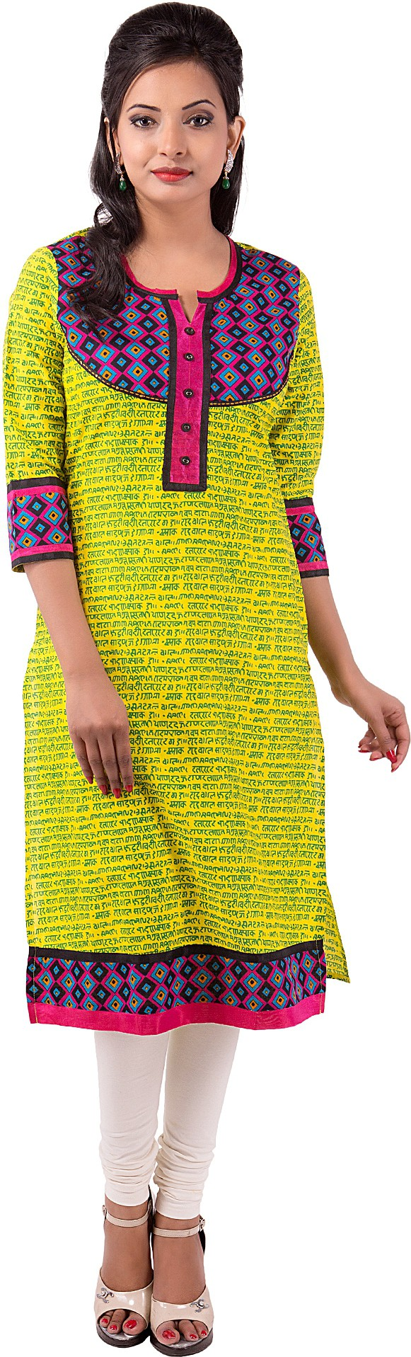 Ishwar Womens Wear Floral Print Womens Straight Kurta(Green)