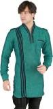 New Looks Solid Men's Pathani Kurta (Gre...