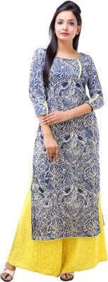 Inblue Fashions Printed Women,s Straight Kurta