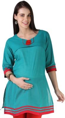 Morph Maternity Solid Women's Straight Kurta
