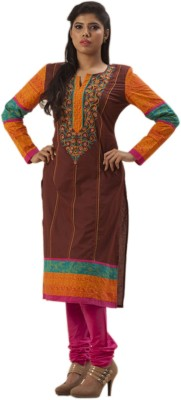 Indian Ink Embroidered, Printed Women's Straight Kurta