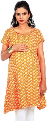 Kriti Ethnic Maternity Printed Women's A-line Kurta