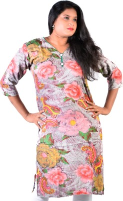 Glimmerra Floral Print Women's Straight Kurta