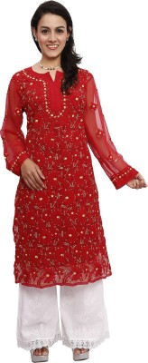 Rzu Embroidered Women's Straight Kurta