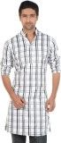 S9 MEN Checkered Men's A-line Kurta (Mul...