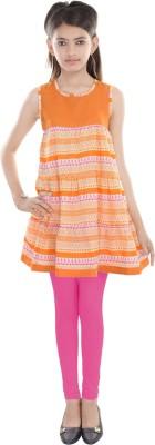 Cotton On Kids Printed Girl's Straight Kurta