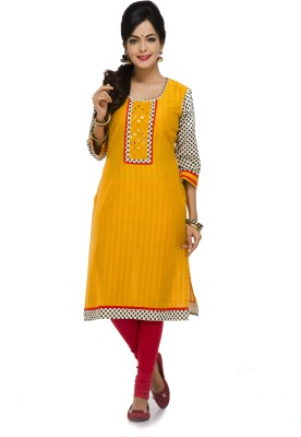 Maybell Embellished Women's Straight Kurta