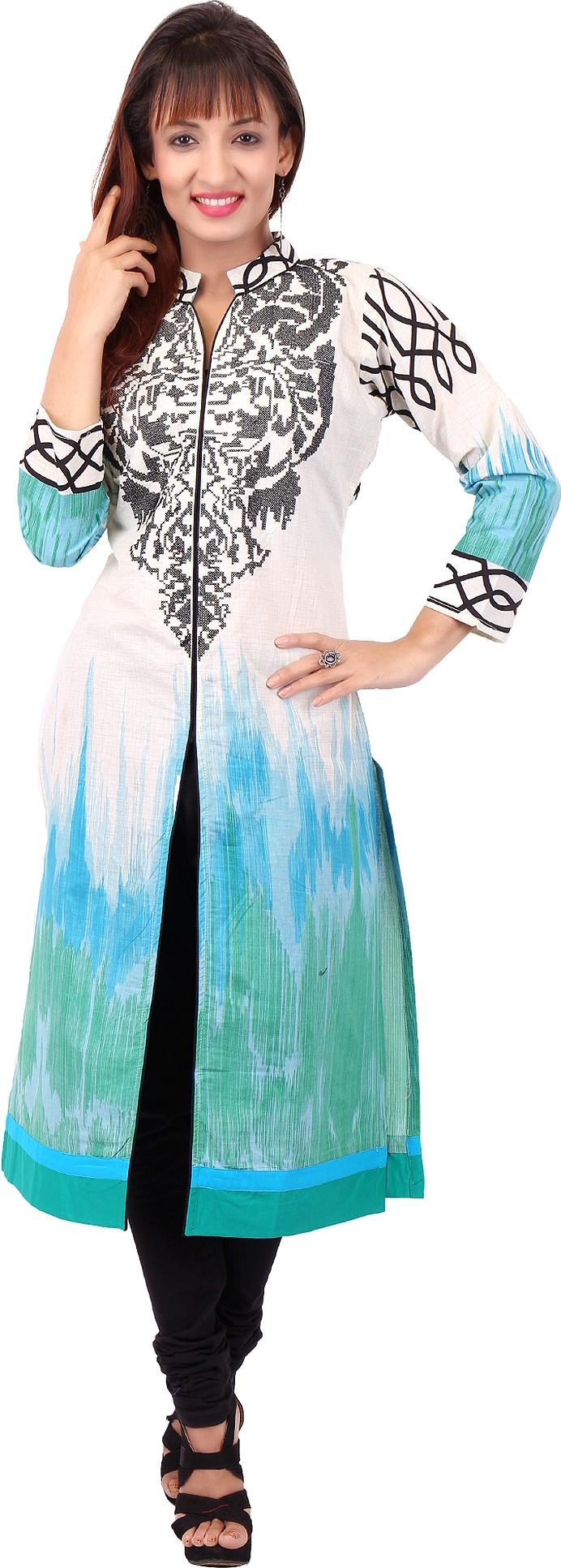 Pregan Printed Womens Straight Kurta(Multicolor)