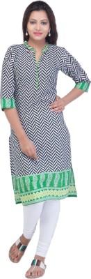 Ridhi Sidhi Striped Women's Straight Kurta