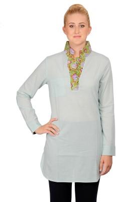 textures fashion Striped Women's Straight Kurta