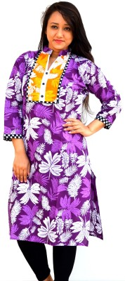 Aarti Collections Floral Print Women's Straight Kurta