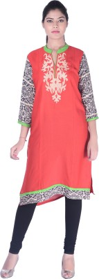 ABHINANDAN CRAFTS Embroidered Women's Straight Kurta