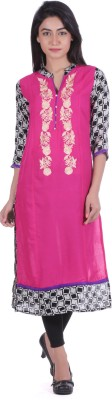 Geroo Checkered Women's Straight Kurta