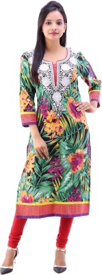 Vinayak Collection Floral Print Women's Straight Kurta