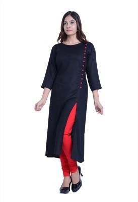 InBlue Fashions Solid Women,s Straight Kurta