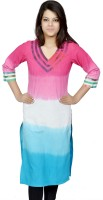 Chitrambara Printed Women's Straight Kurta(Pink)