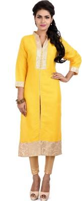 Resham Dori Solid Women's Straight Kurta