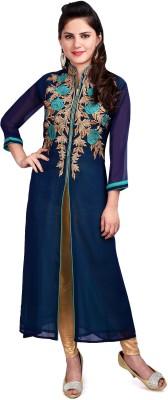 Resham Dori Embroidered Women's Straight Kurta
