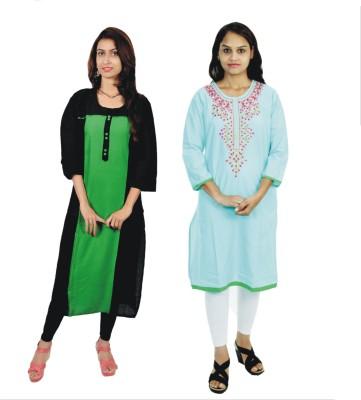 Aanvi Embroidered Women's Straight Kurta