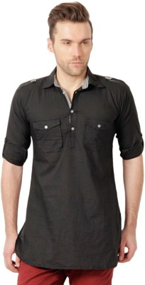 Ree Solid Men's Pathani Kurta