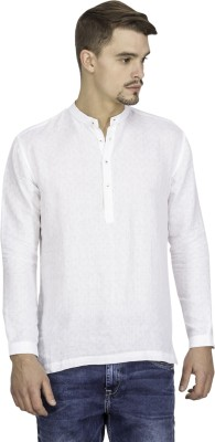Mayank Modi Self Design Men's Straight Kurta