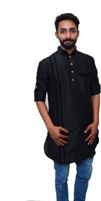 Rasm Self Design Men's Pathani Kurta