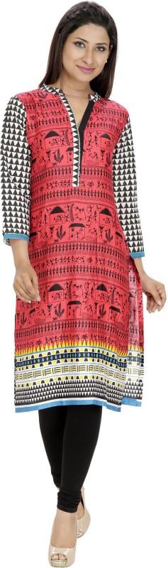 Tanvi Printed Women's Straight Kurta(Red)