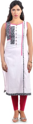 Fab Nisa Printed, Solid Women's Straight Kurta