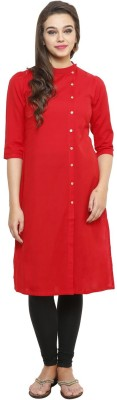 Kazma Solid Women's Straight Kurta