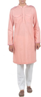 Roar and Growl Solid Men's Pathani Kurta