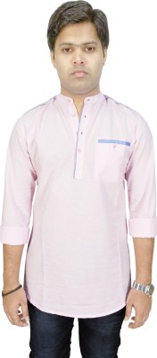 Southbay Solid, Self Design Men,s Straight Kurta