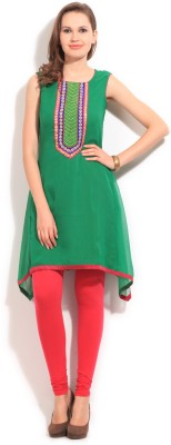 Anahi Solid Women's A-line Kurta at flipkart