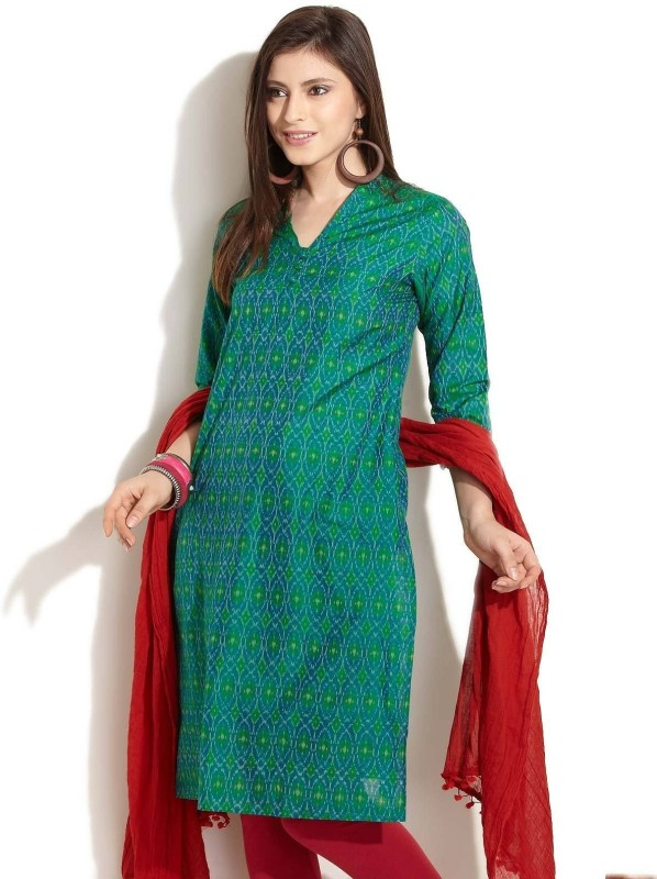 Fabindia Solid Men's Kurta(Green)