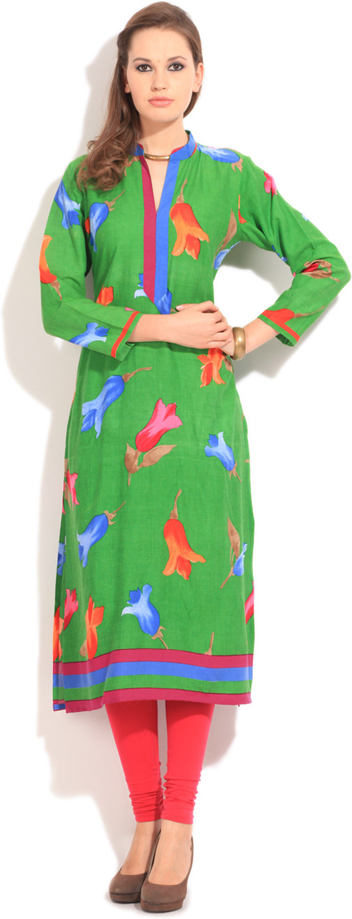 Shree Floral Print Womens Kurta