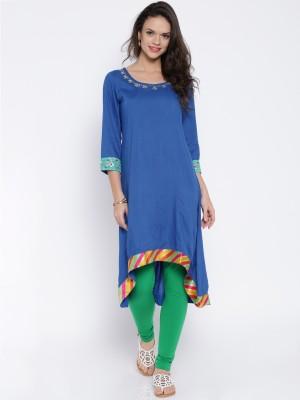Anouk Embroidered Women's A-line Kurta(Blue) at flipkart