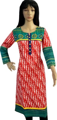 Rajasthali Striped Women's Straight Kurta