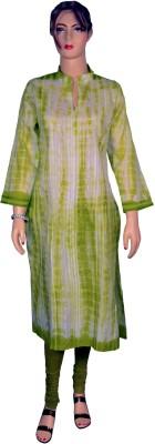 Kurti Bazaar Applique Women's Straight Kurta