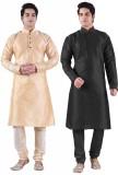 Sanwara Self Design Men's Straight Kurta...