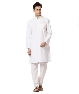 Ethiculture Solid Men's Straight Kurta