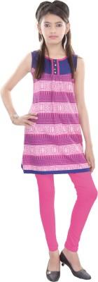 Cotton On Kids Printed Girls A-line Kurta(Pink)