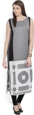 W Printed Women's Straight Kurta(White, Black, Grey) at flipkart