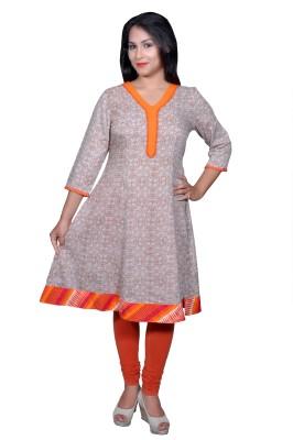 Chidiyadesigns Printed Women's Flared Kurta