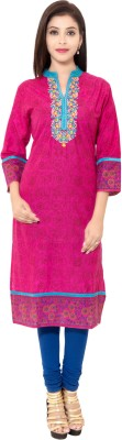 Veera Designers Floral Print Women's Straight Kurta