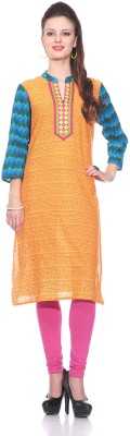 Sringam Printed Women's Straight Kurta
