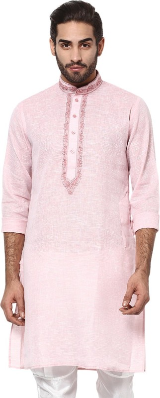 Yepme Embroidered Men's A-line Kurta(Pink)