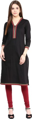 Sringam Solid Women's Straight Kurta